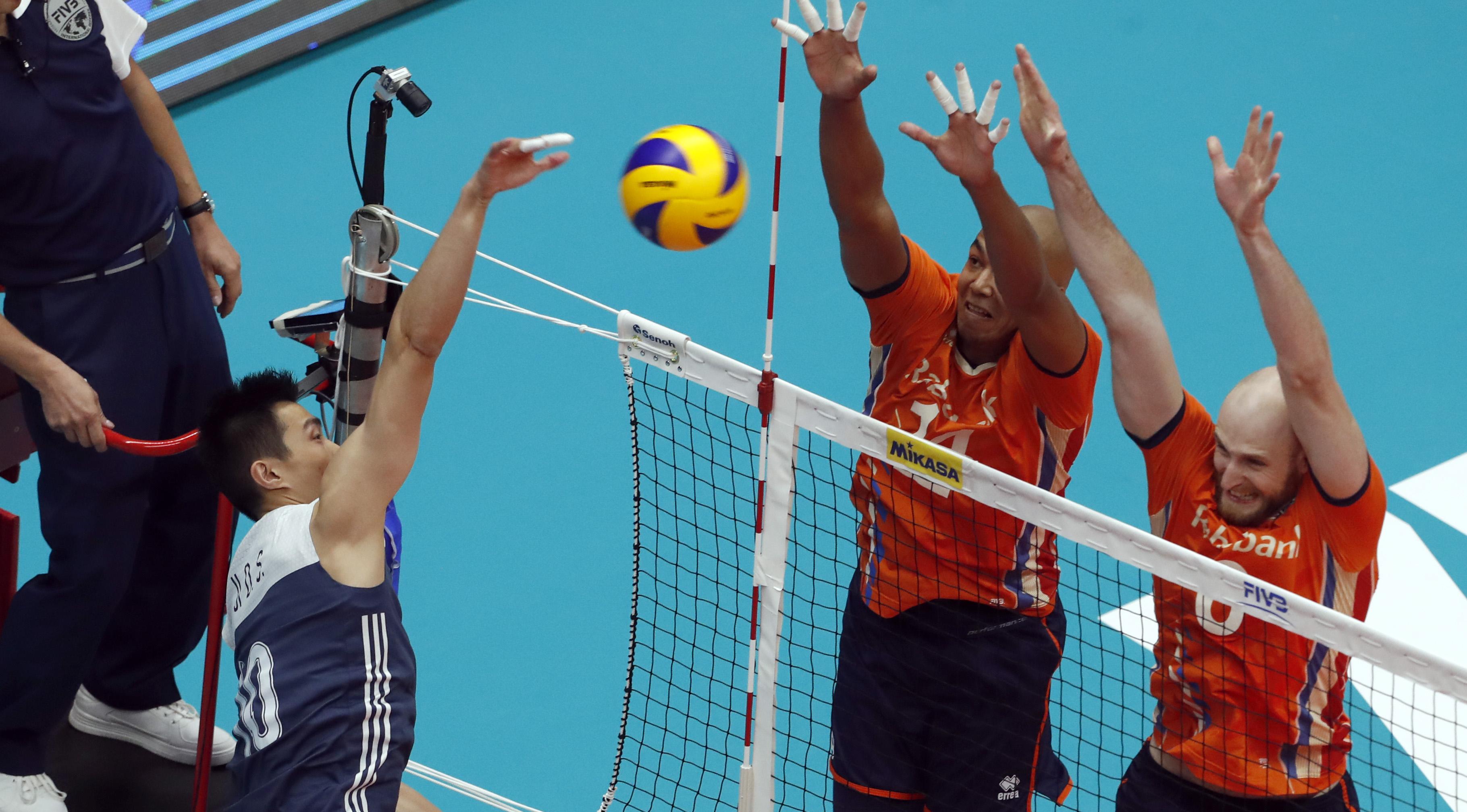 Post Match China Netherlands Fivb Volleyball Mens World Net Bola Voli Mikasa Volley Download
